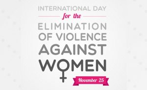 "Yesterday was ""Elimination of Violence Against Women Day""…join me to spread awareness!"